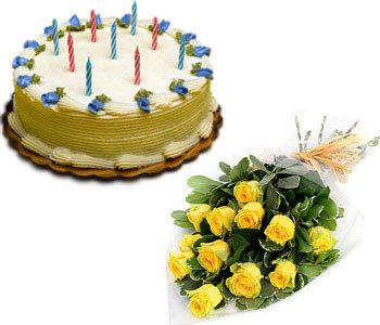 1-kg-butter-scotch-cake-with-12-yellow-roses-arrangement