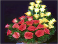 24 Red & Yellow Roses Arrangement
